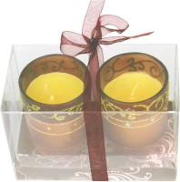 The Candle Shop Gift Sets Candle (Brown, Pack Of 2)