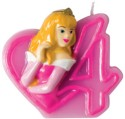 Disney Disney Princess Party Favours Numeral Candles No 4 Candle - Multicolor, Pack Of 1