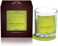All Good Scents Patchouly & Oud Candle (Green, Pack Of 1)