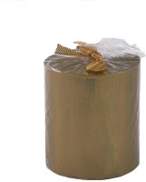 The Yellow Door Golden -3x3 Candle (Gold, Pack Of 1)