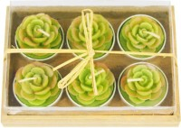 The Candle Shop Floating Candle (Green, Pack Of 6)