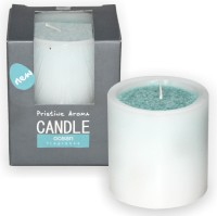 DECO Aro Ocean Pillar D/C Wax - 7x7 Cm Candle (Blue, Pack Of 1)