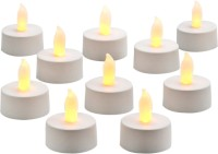 Expressme2u Flameless LED Candle (White, Pack Of 10)
