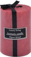 The Yellow Door Rose Scented -6 X 3 Candle (Pink, Pack Of 1)