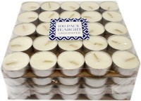Ekam Unscented 100 Pack Tealight Candle (White, Pack Of 100)
