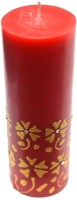 Tvish Candles Valentine Gift -Red Floral Rhapsody 2x6 Candle Candle (Red, Pack Of 1)