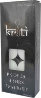 Kriti Creations Tea-Lights Candle (White, Pack Of 20)