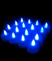 Grace Gully Set Of 2 Tea Light Diya's Candle (Blue, Pack Of 12)