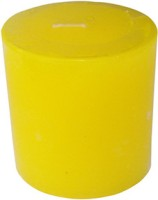 Zanky Lemon Scented Piller Candle (Yellow, Pack Of 1)