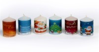 Silverlight Christmas Votive Candle (Multicolor, Pack Of 6)