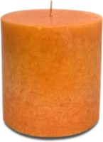Pride & Joy Arts Marble Effect Wax Candle (Orange, Pack Of 1)