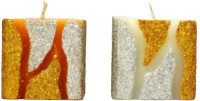 Tvish Candles Decorative Flame Of The Forest Candle (Yellow, White, Pack Of 2)