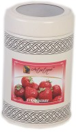 Artistique 8oz Round Tin Fragrance (Strawberry) Candle (Red, Pack Of 1)