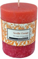 Rosemoore Scented Pillar - Seville Orange Candle (Orange, Pack Of 1)