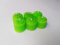 Zanky Green Scented Mini Piller Candle (Green, Pack Of 6)