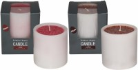 DECO Aro Pristine Aroma Candle (Red, Brown, Pack Of 2)