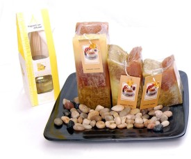 Cosmosgalaxy Gift Pack Lemon, Candy and Cake Candle
