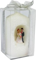 The Candle Shop Wedding Series Candle (White, Pack Of 1)