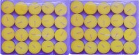 Rasmy Candles Scented Jasmine Tea Lights Pac Of 40 Pcs Candle (Yellow, Pack Of 40)