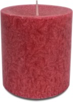 Pride & Joy Arts Marble Effect Wax Candle (Red, Pack Of 1)