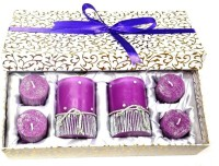Tvish Candles Starry Night Medium Box Set Candle (Purple, Pack Of 6)