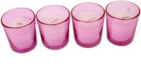 Silverlight Pink Glass Votive Candle (Pink, Pack Of 4)