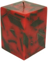 GolMaalShop Square Multi Colored Wax Candle (Multicolor, Pack Of 1)
