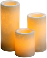 Expressme2u Flameless LED Candle (Beige, Pack Of 3)