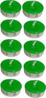 Atorakushon Scented Smokeless Tealight T-Lite Pack Of 80 Candle (Green, Pack Of 80)