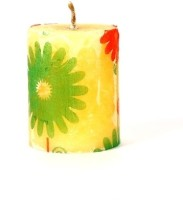 Satyamani Handmade Jasmine Aroma Wax Candle (Yellow, Pack Of 6)