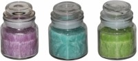 DECO Aro Aroma Jar Candle (Pink, Green, Blue, Pack Of 3)