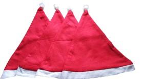 Golden Girl Santa Cap, Christmas Santa Hat Cap Pack Of 4