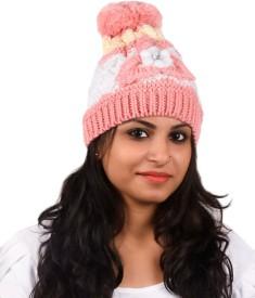Tiekart Floral Print Winter Knitted Cap Cap