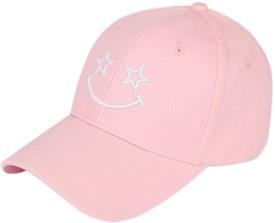 ILU Smiley Pink Caps For Girls And Womans, Baseball Caps, Snapback Cap, Hiphop Caps, Man Caps, Trucker Dad Hats Cotton Cap Cap