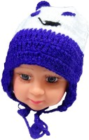 DCS Classy Blue And White Woolen Cap