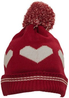 Prrem's Self Design Heart Design Beanie Cap