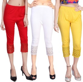 Comix Women's Red, White, Yellow Capri
