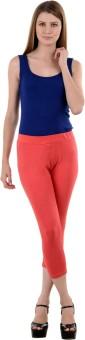 NumBrave Peach Comfort Fit Cotton Women's Capri