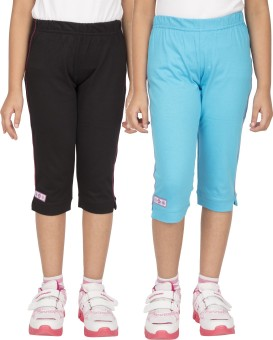 Ocean Race Fashion Girl's Black, Blue Capri
