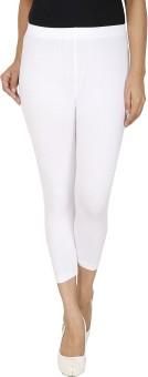 AT LAST Stylish White Women's White Capri