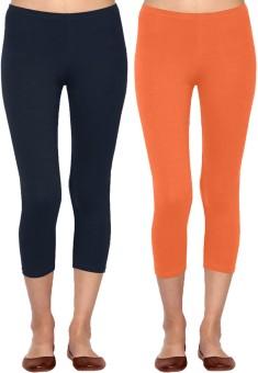Linking Threads Vetha Women's Dark Blue, Orange Capri