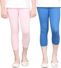 Sinimini Girl's Pink, Blue Capri