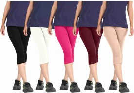 Rooliums Capri Combo Pack Of 5 Women's Multicolor Capri - CPIEKP2PEYBHYGPG