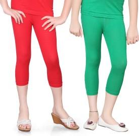 Sinimini Girl's Red, Green Capri