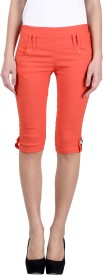 Kritika's world Women's Orange Capri