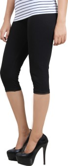 Wazeer SHORT LEGGING - Cotton With Spandex - Black - M Women's Black Capri