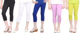 Sinimini Fashion Girl's Reversible Multicolor Capri