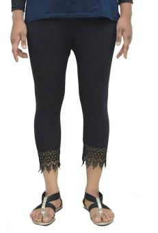 G Fashion Capri With Lase Black Women's Capri
