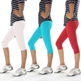 Cotton Flake Combo Pack Of 3 Women's Capri