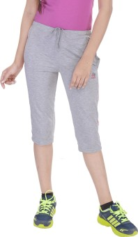 Une Mode Women's Grey Capri